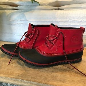 Sorel Red Patent Out & About Boot